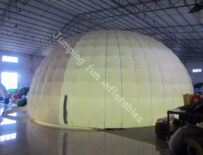 2019 led inflatable cube tent for sports / inflatable bubble dome
