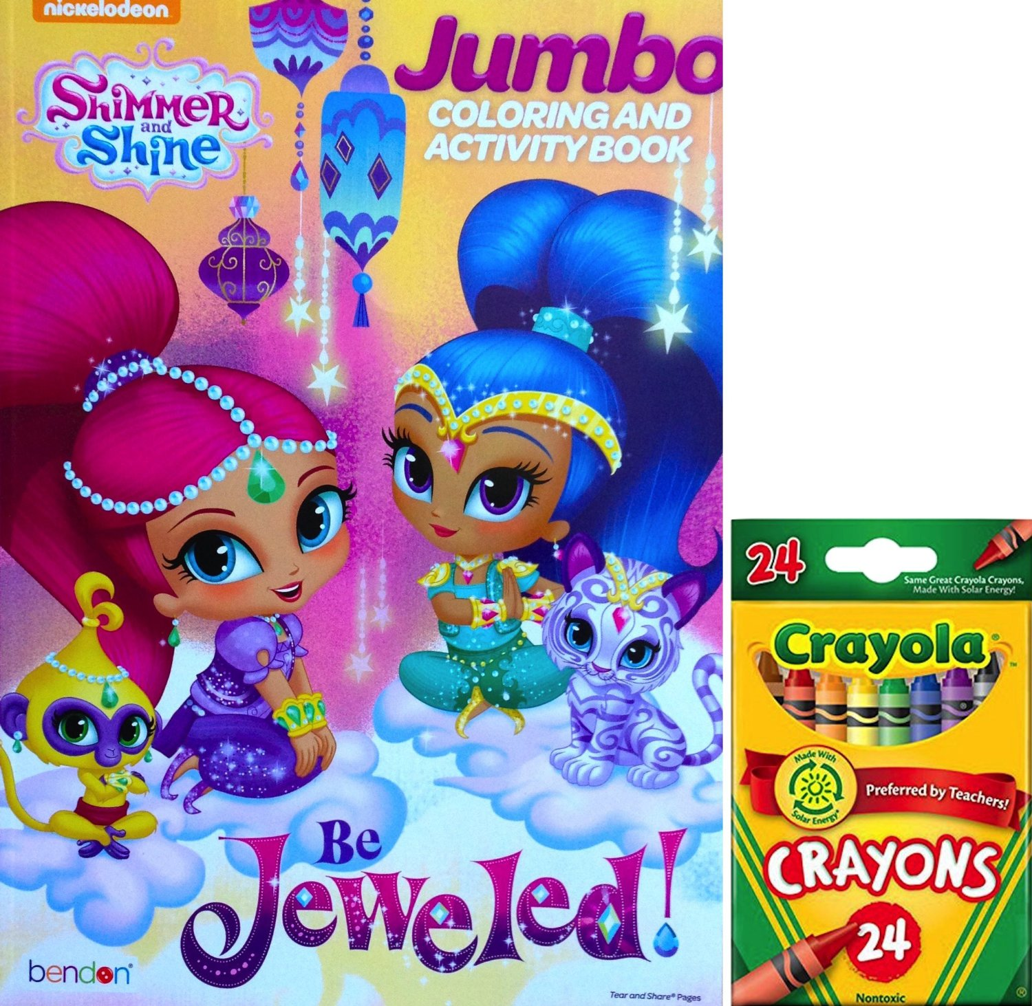 buy shimmer and shine jumbo coloring and activity book be jeweled