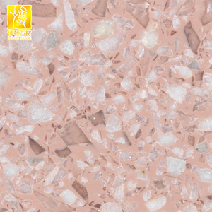 Cement-based pink terrazzo for flooring tile