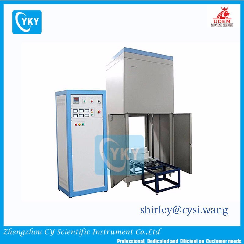 CE approved 1600C auto elevator cylinder chamber bottom loading /bell type sintering furnace