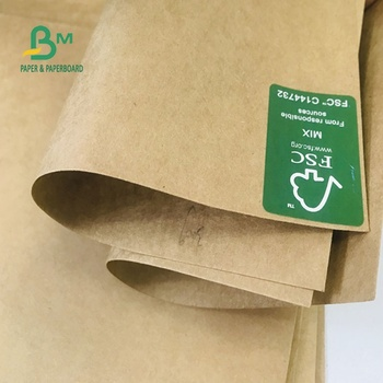 FSC 50GSM TO 400GSM Uncoated Brown Kraft Liner Paper Board