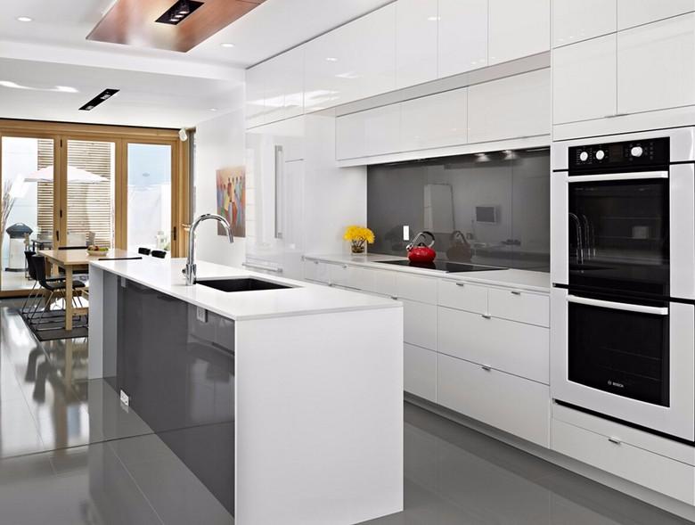 Casa Prefabricada Muebles Gabinetes De Cocina De Cerezo Diseño Salas ...