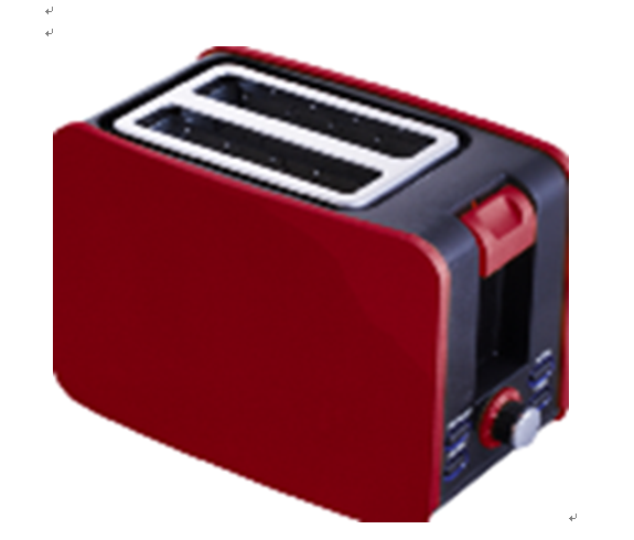 New 750w 2 Slice Electric Popup Bread Toaster Txt-044