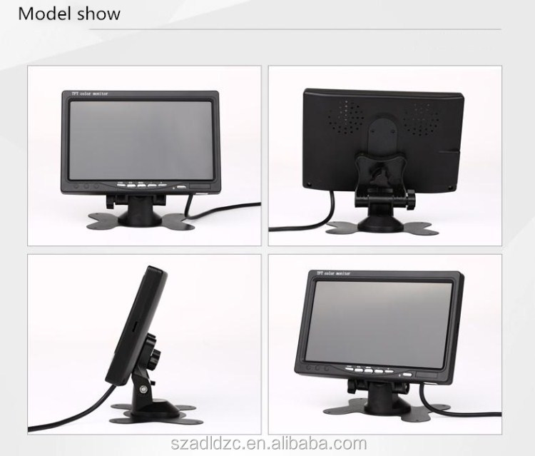 Best selling 7 inch tft lcd car monitor with AV input headrest monitor car rear view monitor
