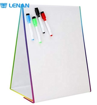 Wholesale Dry Erase Kids Writing White Board Foldable Desktop Whiteboard with Magnetic 4 Marker Pens & Letters Christmas Gift