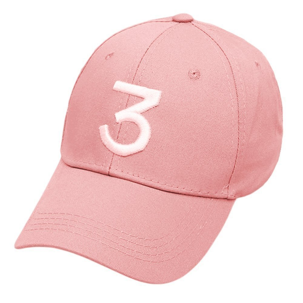 16ff2e5a7c6ff5 Get Quotations · IVYRISE Fashion Embroider Baseball Chance Caps Hats Cool  Baseball Rapper Caps with Number 3, Rock
