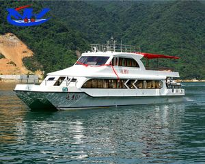fast speed catamaran used fiberglass passenger river ferry boat for sale