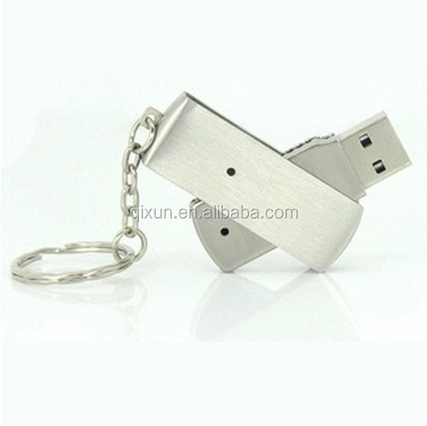 credit card payment accept metal material swivel usb flash drive 4gb
