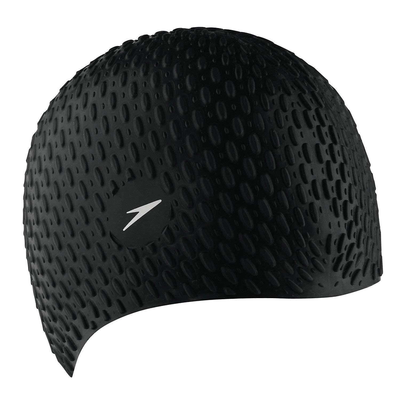Get Quotations · Simply Silver Cap - Speedo Silicone Textured Bubble Swimming  Swim Cap c69c316351cb