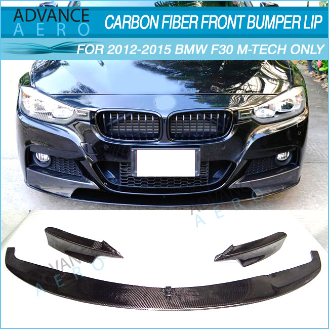 BMW E46 M TECH M SPORT II 2 BUMPER USE CARBON FRONT LIP SPOILER HM STYLE