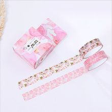 15mm Wide Fresh Various Flowers Dream &Time Poem Washi Tape Adhesive Tape DIY Decoration Scrapbooking Sticker Label Masking Tape