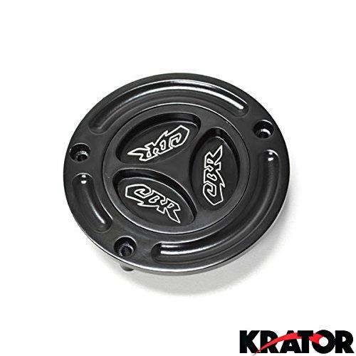 Krator Motorcycle Fluid Black Reservoir Cap Logo Engraved For 1993-1999 Honda CBR 900RR