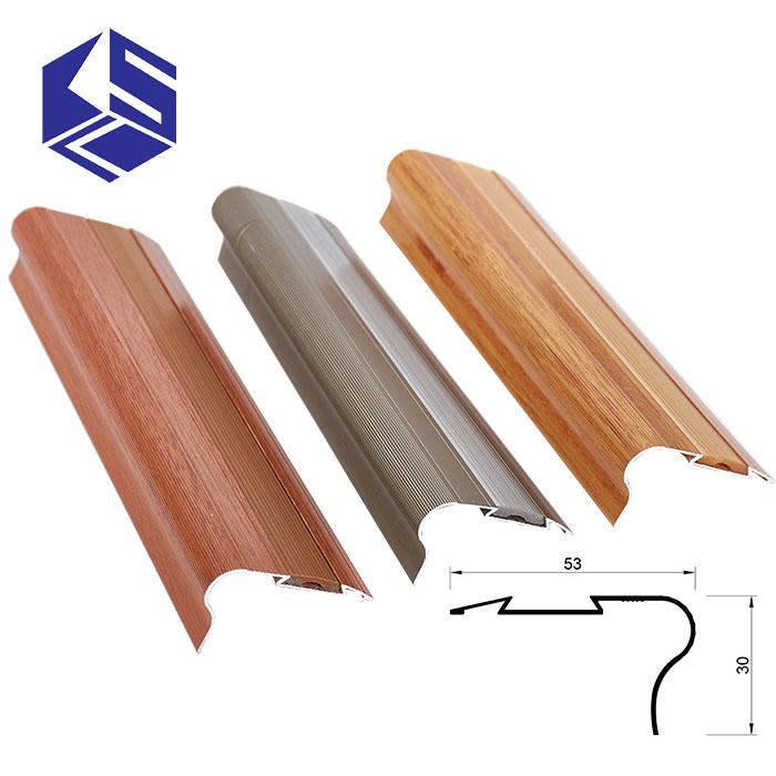 Big Promotion Wood Stair Treads Laminate Floor Metal Stair Nosing
