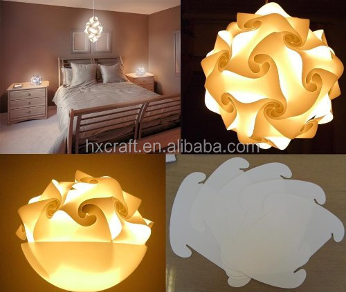 Modern Contemporary Diy Elements Iq Jigsaw Puzzle Lamp Shade Ceiling Pendant Ball Light Lighting