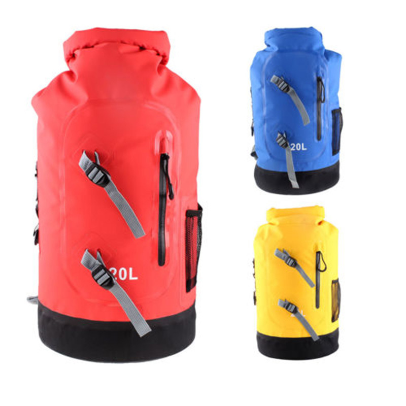 1fff25a9be 3 Colors 20L Large Waterproof Floating Dry Bag Backpack Drift Sports Hiking  Camping outdoor high quality Travel Kits Equipment