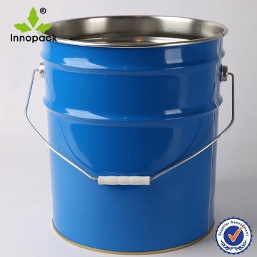 Painted 5 gallon metal paint pail oil tin can with lid for 5 gallon bucket of paint price