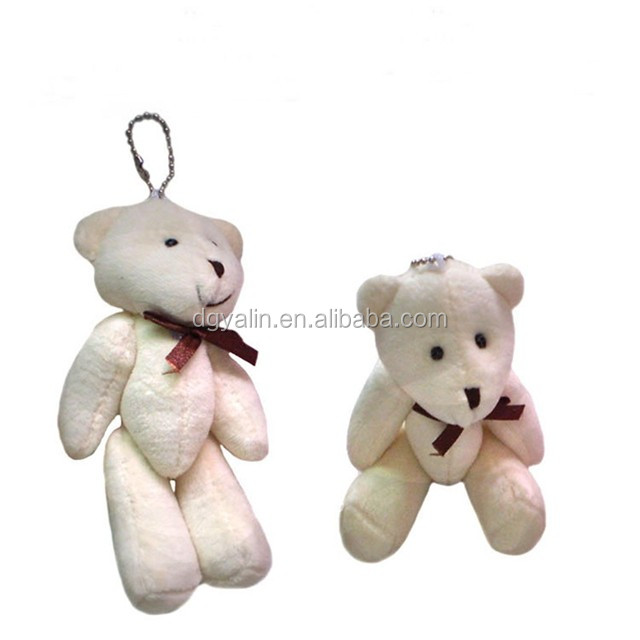 custom teddy bear fluffy plush pendant toy stuffed doll,plush bear ball keychain