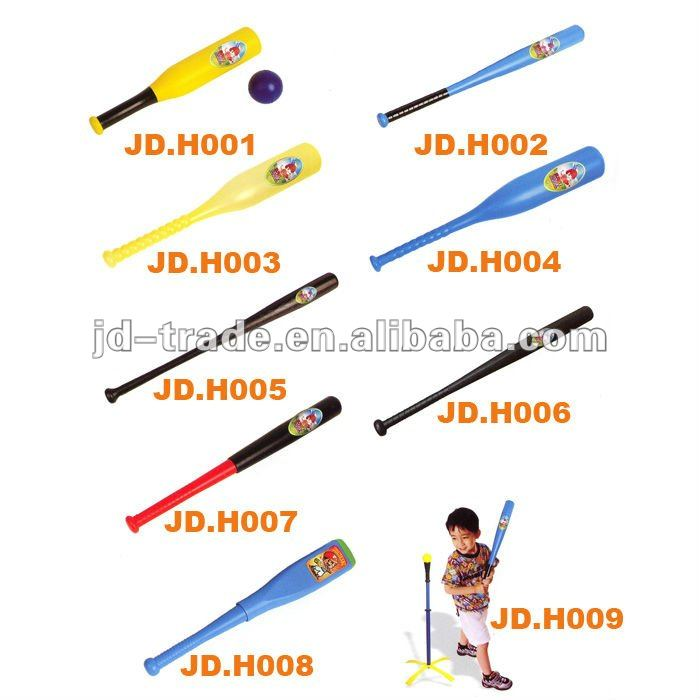 63x840MM Top Quality Colored Plastic Baseball bat toy with Promotions