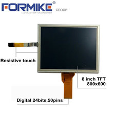 8 zoll 800x600 tft lcd-display-modul mit 4 draht resistiven touch-panel