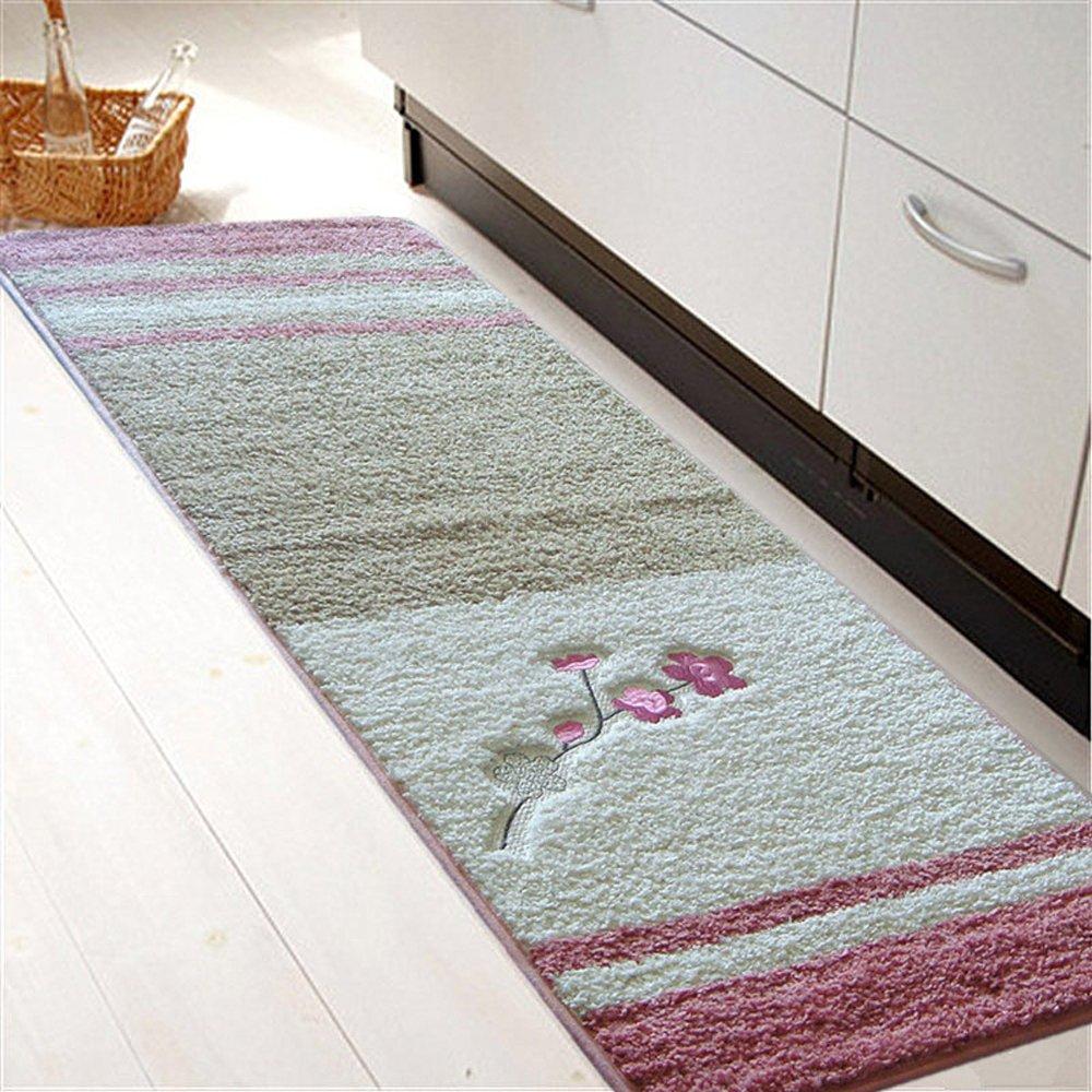 Kitchen Mat 2 Piece,Decorative Non-Slip Microfiber Doormat ...