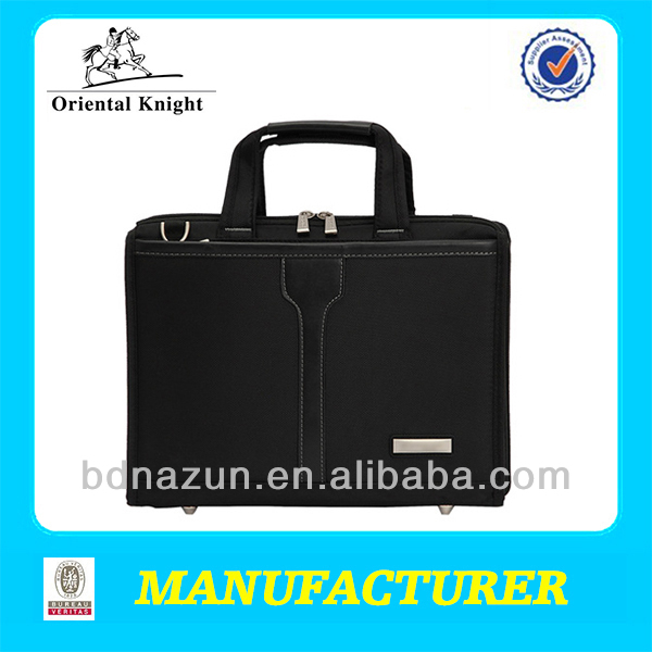 simple soft black polyester conference bag laptop bag at cheap price