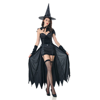 Adult halloween role play sexy cape queen devil witch costume