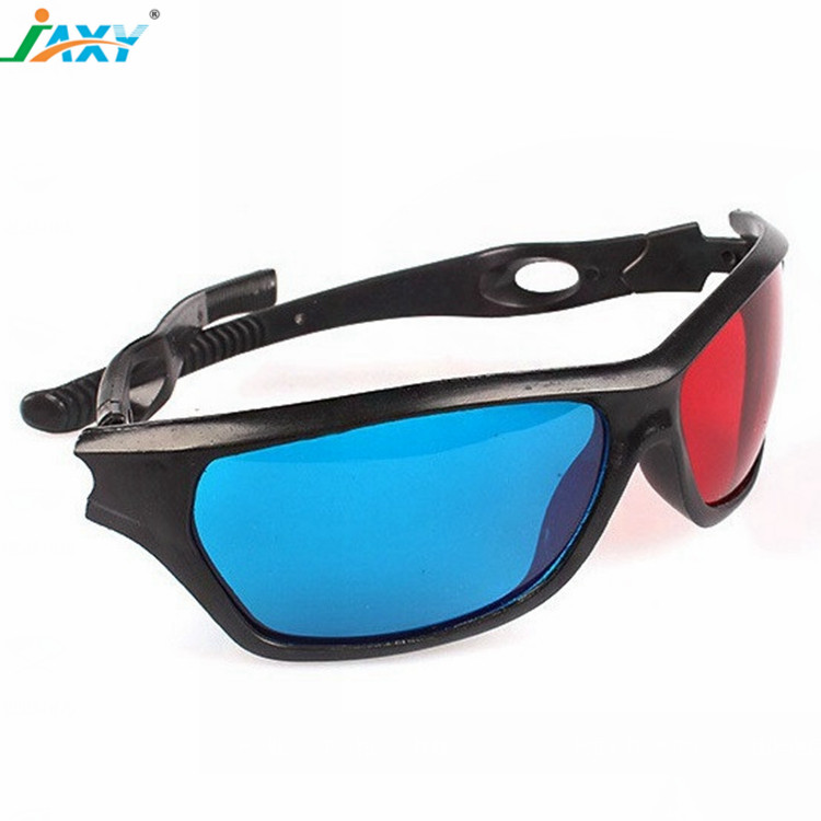 fc460a73df Plastic Red-blue 3D Glasses  Cyan Anaglyph Simple style 3D Glasses 3D movie  game-Extra Upgrade Style