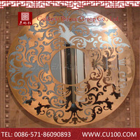 Antique best selling lowest cost metal flowers wall art mirror