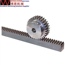 Custom stainless steel CNC Machine gear rack made by whachinebrothers ltd.