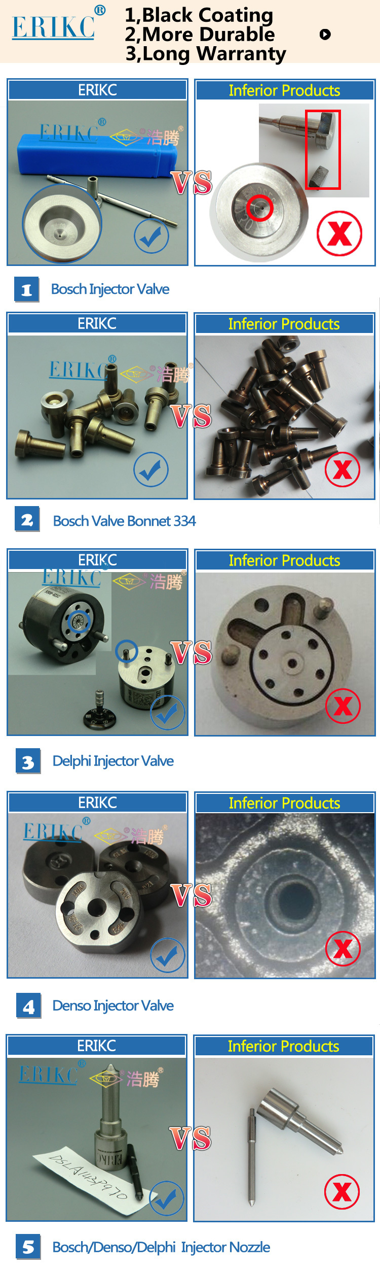 ERIKC F 00V C01 011 original control valve F00VC01011 pump injection valve control FOOV C01 011 for 0445110038