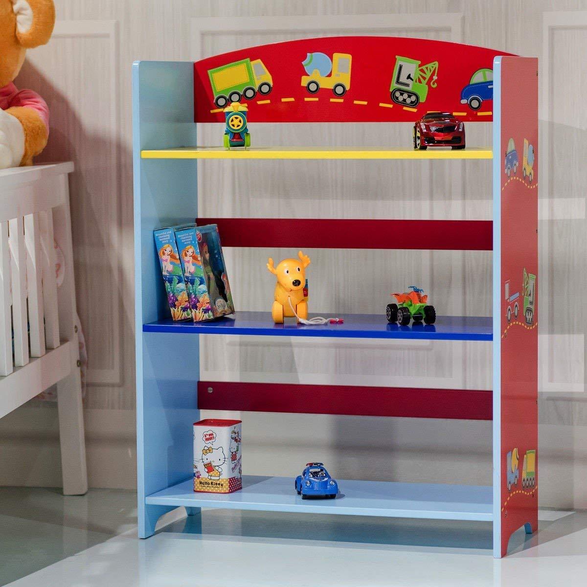 Get Quotations Custpromo Kids Bookshelf 3 Tier Adorable Corner Bookcase Serial 2