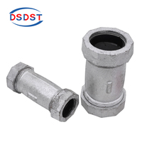 Malleable pipe fittings cast iron long compression Couping Union Dresser threaded coupling