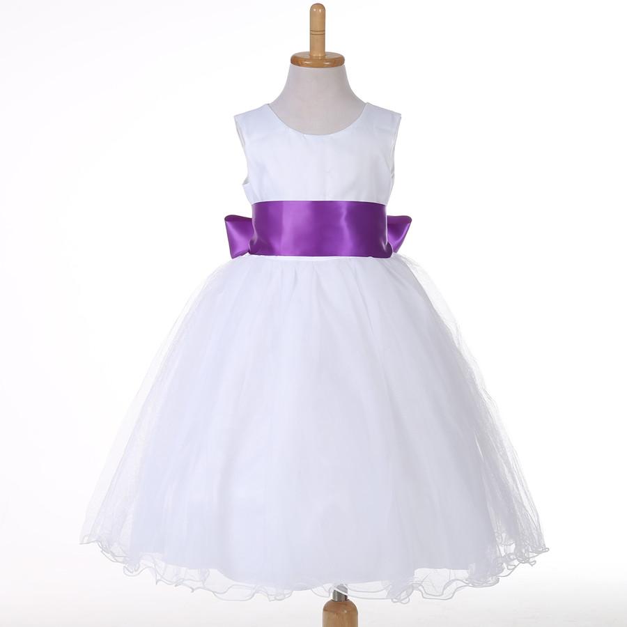 Flower Girl font b Dresses b font Wedding Easter Junior Bridesmaid White Curl Princess Girl font