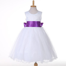 Flower Girl Dresses Wedding Easter Junior Bridesmaid White Curl Princess Girl Dress