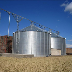 Wheat Mill Steel Storage Silo with Cleaning Machine System