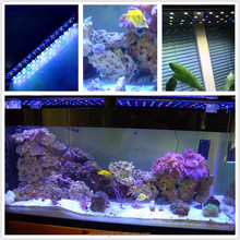 programmable marine with computer controller sunrise sunset lunar cycle 60/90/120 degree optics 4ft/5ft led aquarium light