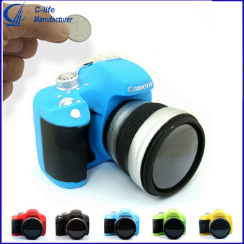 Creative Plastic SLR Camera Coin Bank Money Box Savings Bank Box