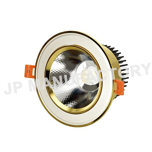 120mm opening Recessed Gold COB 15 watt LED Down Light