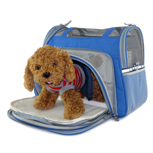 soft sided folding expandable pet Cat carrier bag for car travel