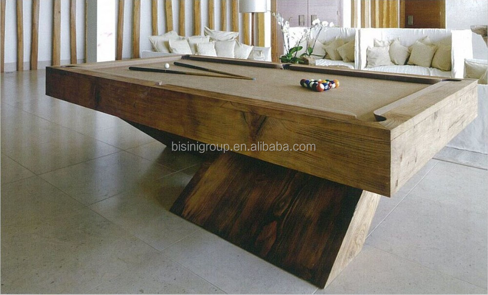 Conception sp ciale bois naturel couleur 9ft slate table de billard table d - Table billard design ...