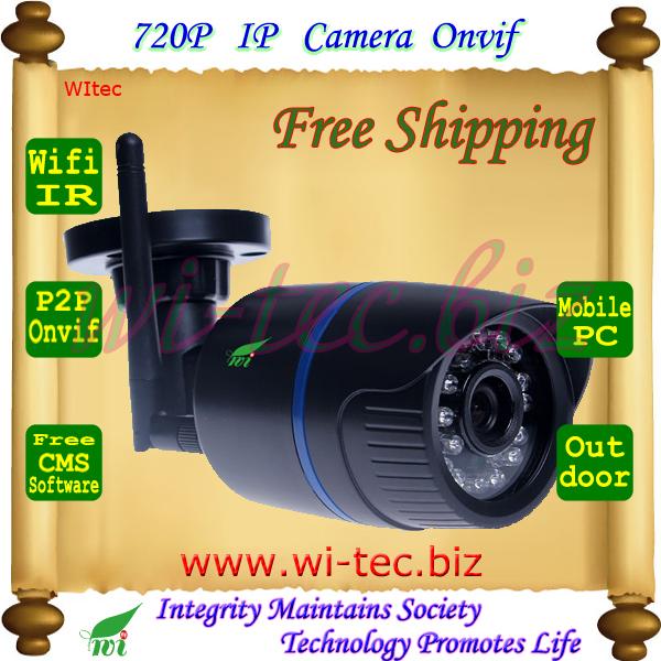 WIFI 720P IR Outdoor Bullet ONVIF Security Mini Night Vision P2P IP Cam IR Cut