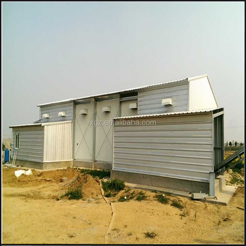 Low cost modern design steel shed poultry farm chicken coop for hens price