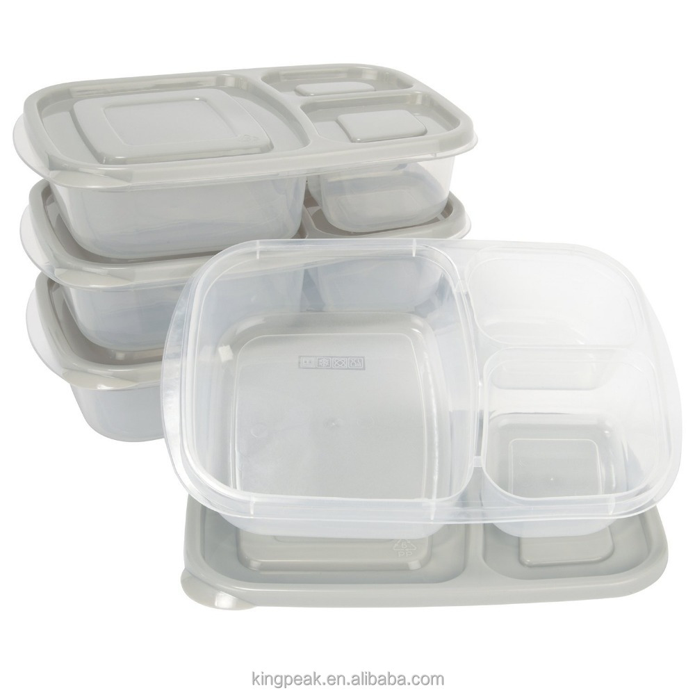 Hot Sale Meal Prep 3 Compartment BPA FREE, Premium Food Storage Containers/Microwaveable & Dishwasher Safe Bento Lunch box
