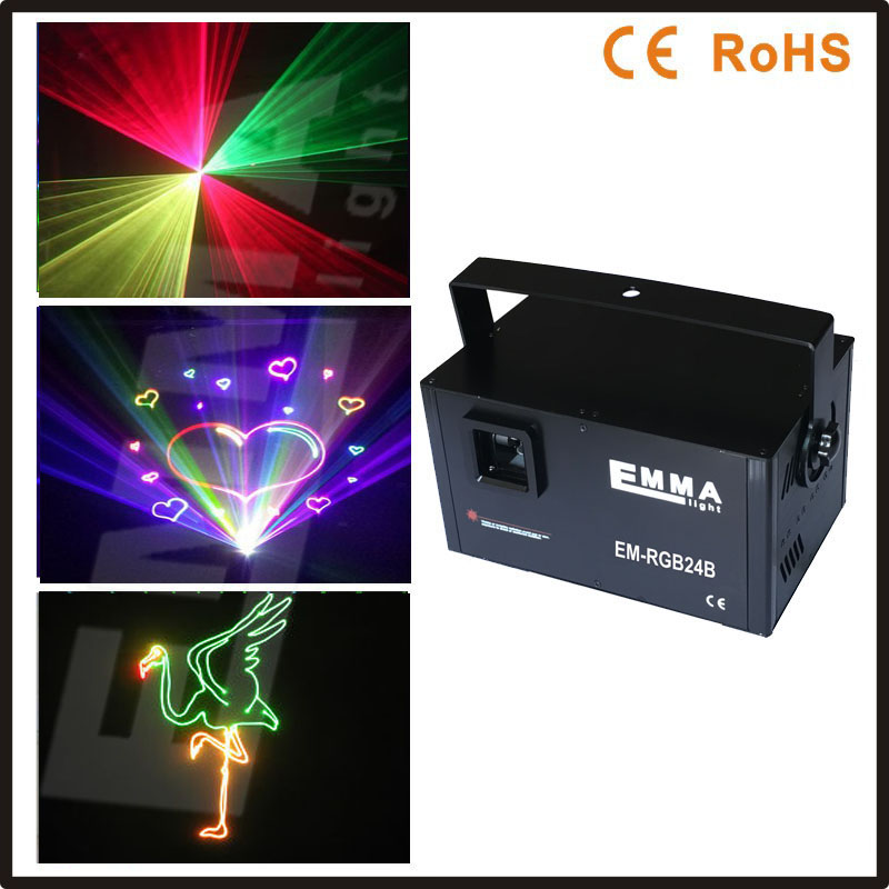 New Xmas DMX 3D Effect 1.5W RGY Laser Show Lighting Scanner Party Light LED Projector Mixed Yellow Full Color Red