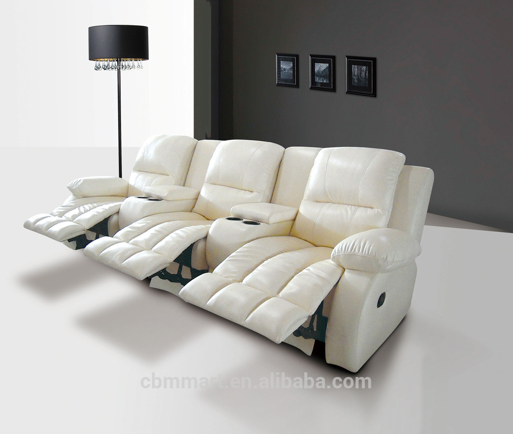 Italy Leather Recliner Sofa White