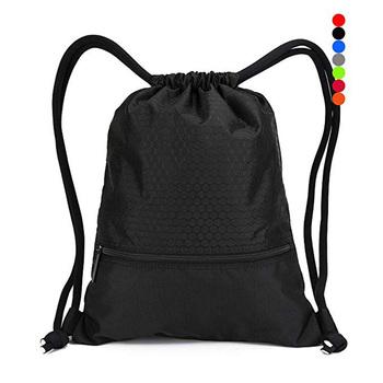 2019 Cheap Drawstring Gym Bag Nylon Mesh Net Waterproof Custom Polyester  Drawstring Bag
