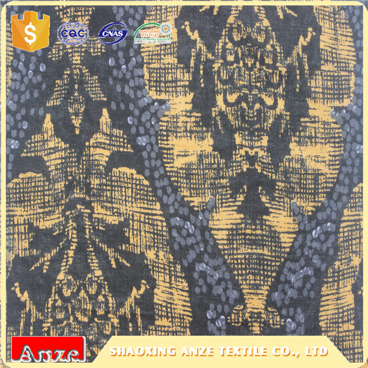 Cheap custom indian woven printed cotton voile fabric