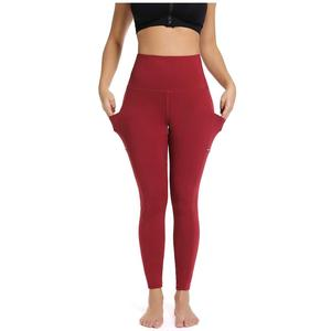 Plus Size Women Clothing High Waisted Workout Leggings Blank Basic Yoga Pants with Pockets for Women