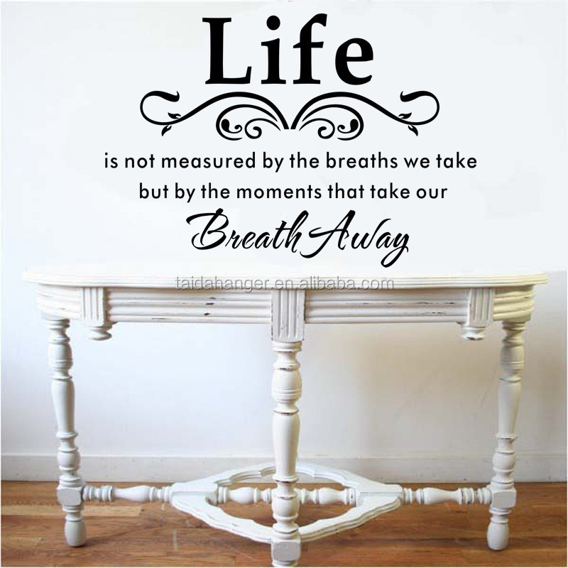 Stylish English Proverbs Pattern Removable PVC Wall Sticker Home Room Decal  Art Waterproof Stickers Part 84