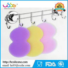 Heat Resistant Dishwashing Holder Scourer Custom Washing Rubber Wholesale Dish Cleaning Kitchen Silicone Sponge Scrubber